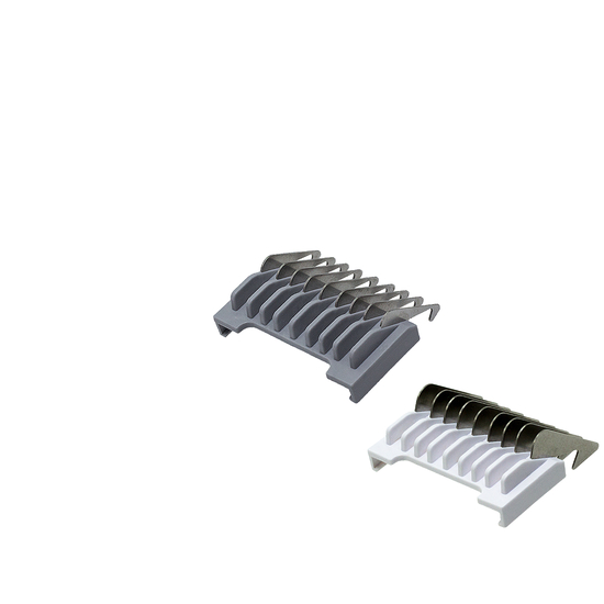 Stainless steel slide-on attachment combs